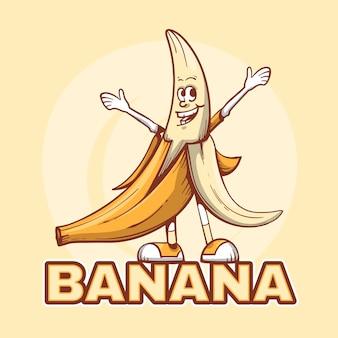 Modello di logo del personaggio di banana