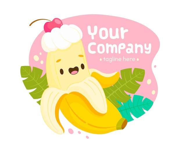 바나나 캐릭터 로고 템플릿