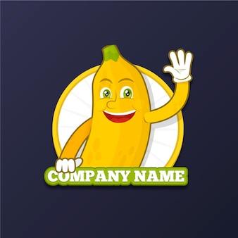 バナナキャラクターロゴ