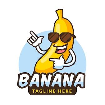 Banana character logo
