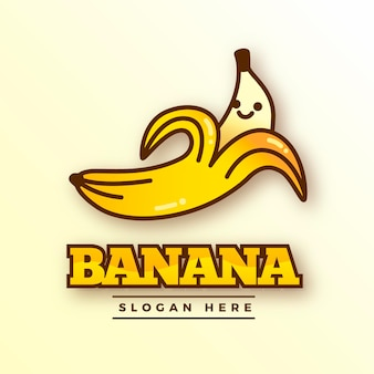 바나나 캐릭터 로고