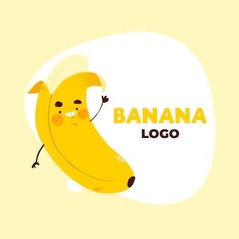 Банан персонаж логотип