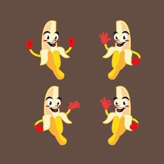 Банан персонаж талисман стикер мультфильм