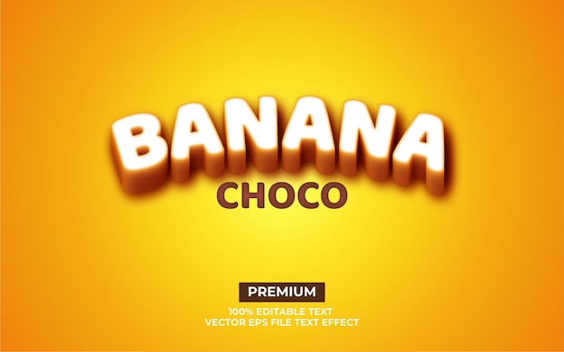 바나나 초코 텍스트 효과
