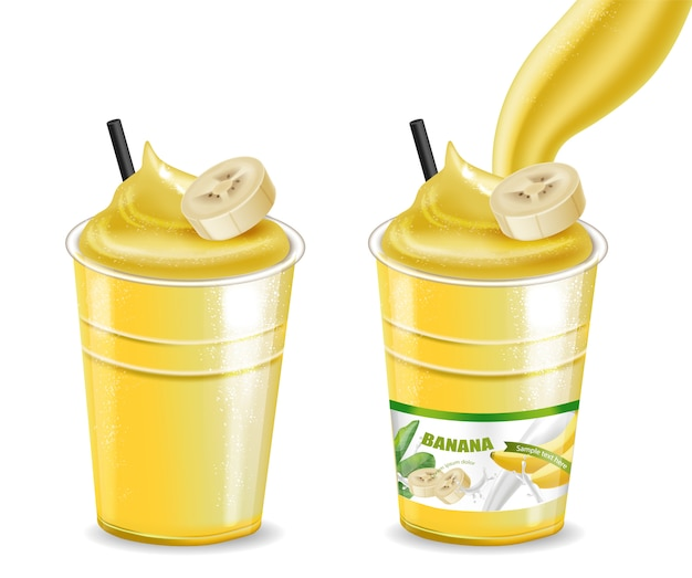 Banana cocktail shake