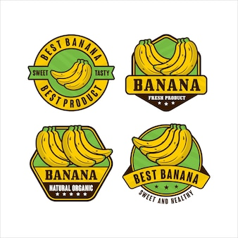 Banana design premium logo collection