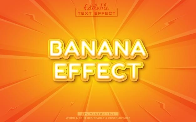バナナ編集可能なテキスト効果