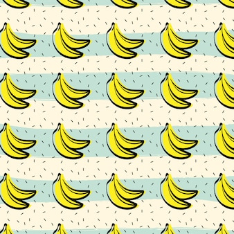 Banana fruit pattern background