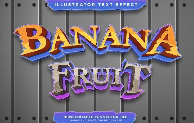 Banana fruit text effect