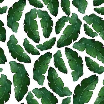 Банановый лист бесшовные модели