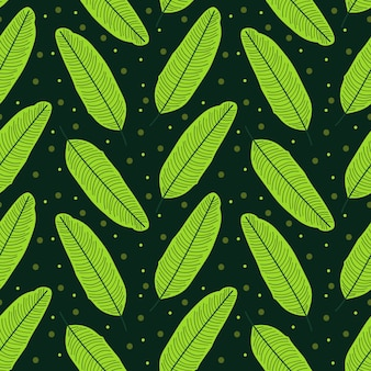Банановые листья абстрактный повторяющийся узор