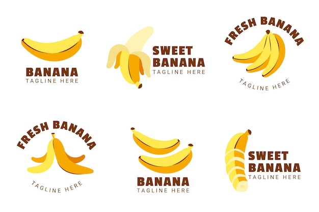 Banana logo collection
