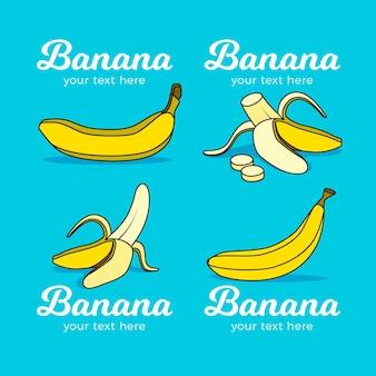 Коллекция логотипов бананов
