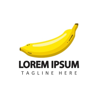 Banana logo template design vector in isolated background