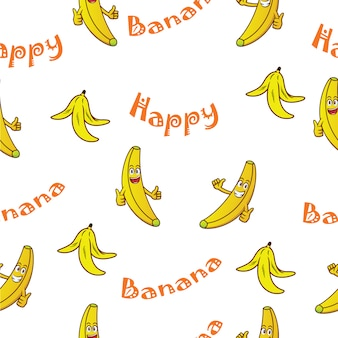 Banana pattern background