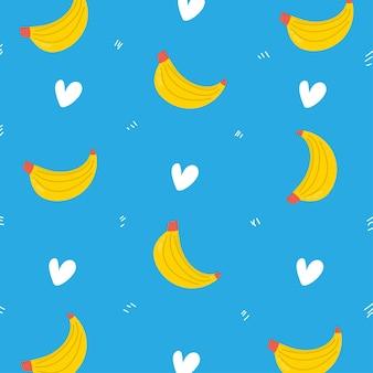 Банановый узор фона