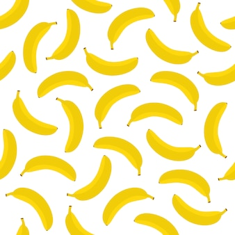 Banana seamless pattern background vector design