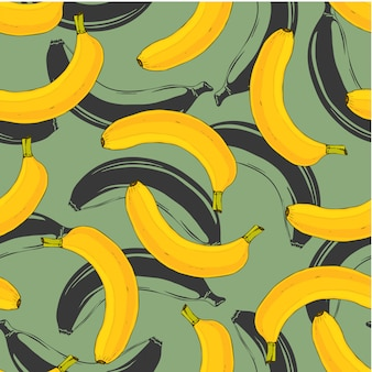 Banana seamless pattern