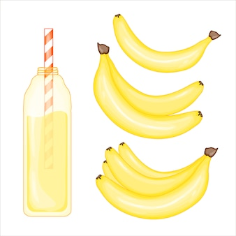 Banana and smoothie set