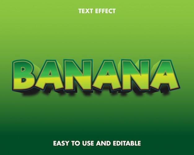 Банан текстовый эффект в современном стиле.