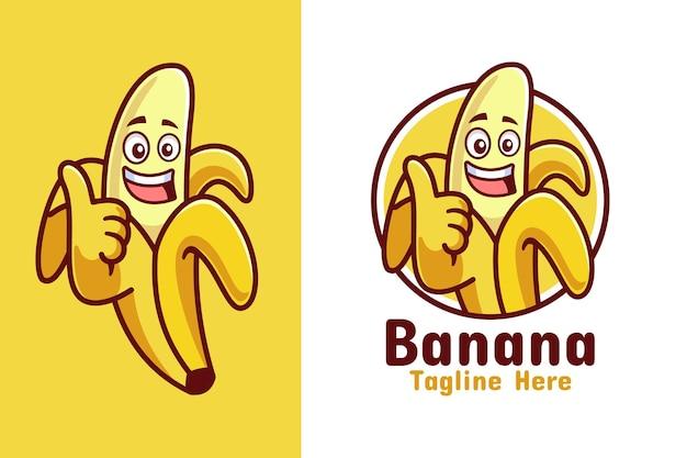 Банан палец вверх дизайн логотипа