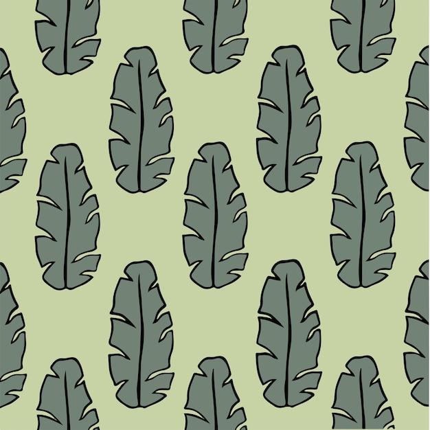 Банан тропический лист узор фон социальных сми сообщение ботанические цветочные векторные иллюстрации