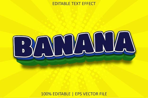 Banana with cartoon emboss style editable text effect