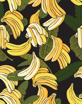 Banana yellow pattern black