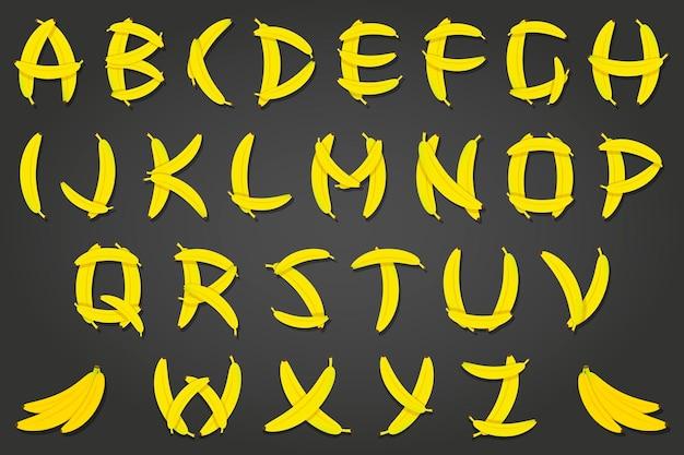バナナのアルファベット