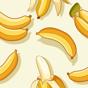 Bananas and banana peel pattern