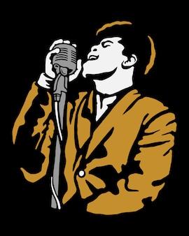 Band singer illustration