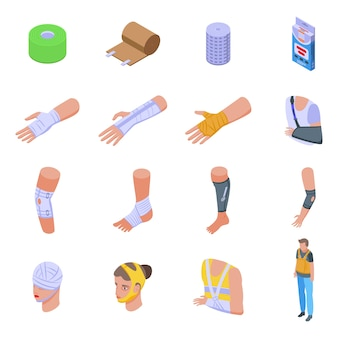 Bandage icons set.