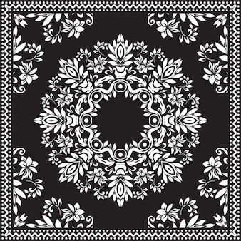 Bandana clipart black and white.