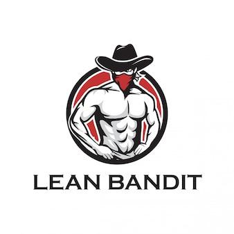 Шаблон логотипа бандита