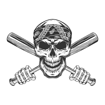 Бандитский череп в бандане