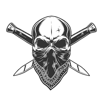 Bandit skull with bandana on face