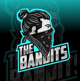 The bandits mascot esport logo