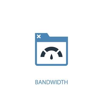 Концепция пропускной способности 2 цветных значка. простой синий элемент иллюстрации. дизайн символа концепции пропускной способности. может использоваться для веб- и мобильных ui / ux