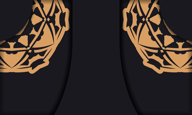 Baner in black with a luxurious orange pattern and space for logo or text