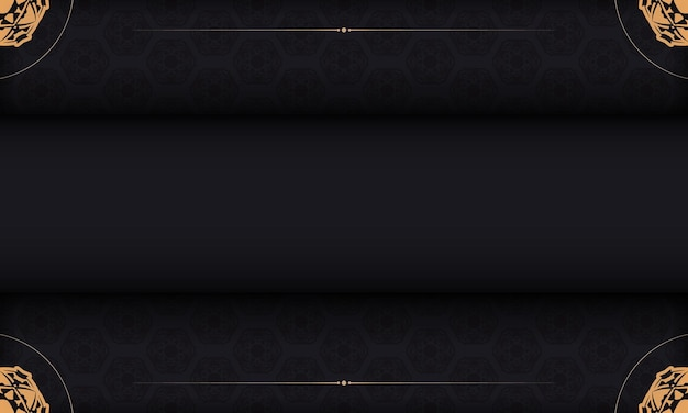 Baner in black with a luxurious pattern and a place for your text