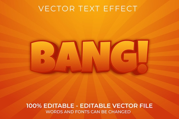 Bang 3d редактируемый текстовый эффект