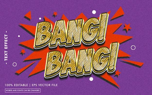 Bang! bang! text effect style