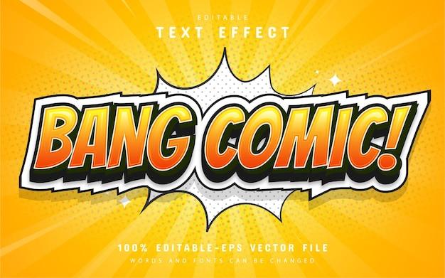 Bang comic text effect editable