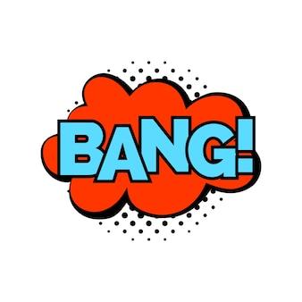 Рекламная надпись bang