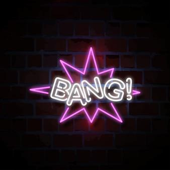 Bang! neon sign illustration