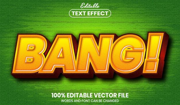 Текст bang, редактируемый текстовый эффект стиля шрифта