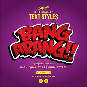Bang text style