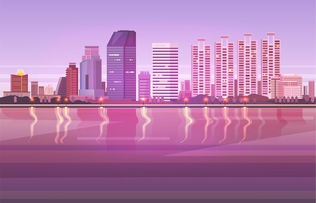방콕. 태국 도시 풍경.