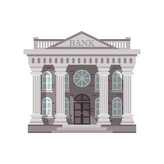 Bank building illustration