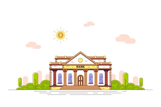 Здание банка по ул. плоский стиль